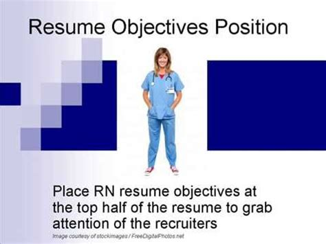 Good nurse resume objectives